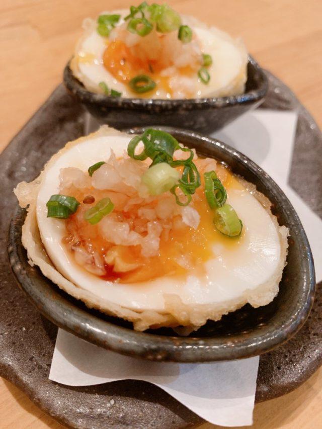 煮卵の天ぷら